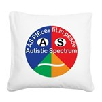 Autistic Spectrum logo Square Canvas Pillow