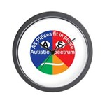 Autistic Spectrum logo Wall Clock
