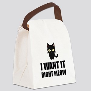Right Meow Canvas Lunch Bag