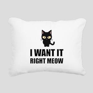 Right Meow Rectangular Canvas Pillow