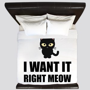 Right Meow King Duvet
