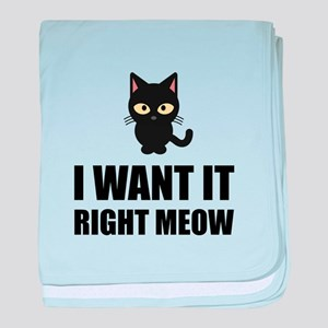 Right Meow baby blanket