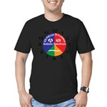 Autistic Spectrum logo Men's Fitted T-Shirt (dark)