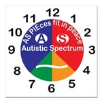 Autistic Spectrum logo Square Car Magnet 3