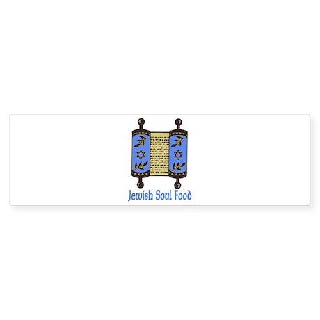 Jewish Soul Food Bumper Sticker