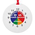 Autistic Spectrum logo Round Ornament