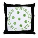 Visualize Whirled Peas Throw Pillow