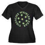 Visualize Whirled Peas Women's Plus Size V-Neck Da