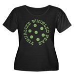 Visualize Whirled Peas Women's Plus Size Scoop Nec
