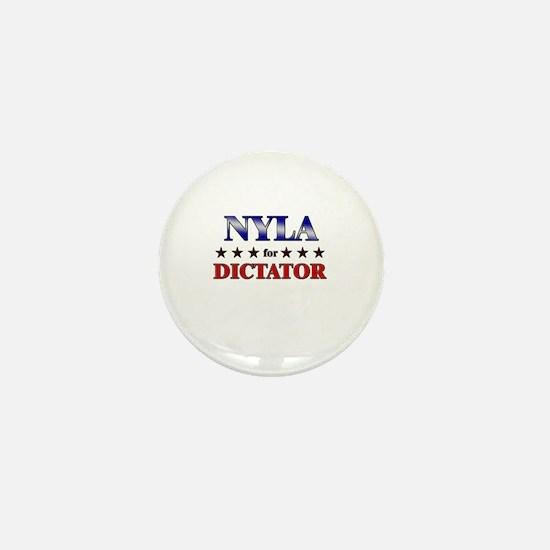 NYLA for dictator Mini Button