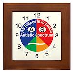 Autistic Spectrum logo Framed Tile