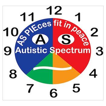 Autistic Spectrum logo Wall Art