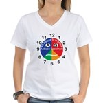 Autistic Spectrum logo Women's V-Neck T-Shirt