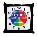 Autistic Spectrum logo Throw Pillow