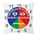 Autistic Spectrum logo Woven Throw Pillow