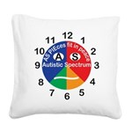 Autistic Spectrum logo Square Canvas Pillow