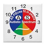 Autistic Spectrum logo Tile Coaster
