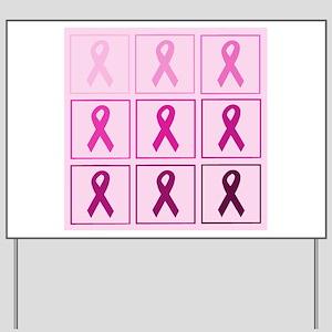 Pink Ribbon Box Yard Sign