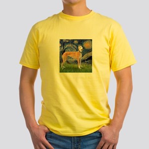 Starry / Greyhound (f) Yellow T-Shirt