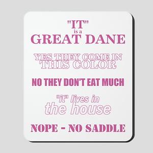 Great Dane Walking Answers Mousepad