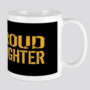 U.S. Navy: Proud Daughter (Black) Mug