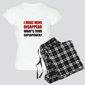 Wine Disappear Superpower Pajamas