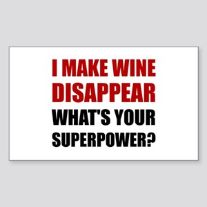 Wine Disappear Superpower Sticker