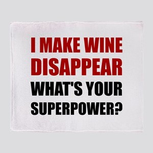 Wine Disappear Superpower Throw Blanket