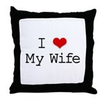 I Heart My Wife Throw Pillow
