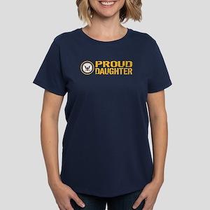 U.S. Navy: Proud Daughter Women's Dark T-Shirt