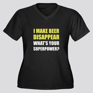 Beer Disappear Superpower Plus Size T-Shirt