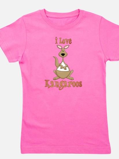Cute Kangaroos Girl's Tee