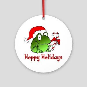 Frog Santa Ornament (Round)