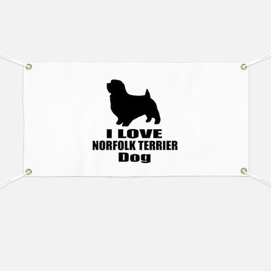 I Love Norfolk Terrier Dog Banner