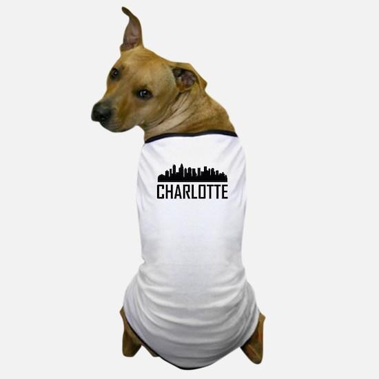 Skyline of Charlotte NC Dog T-Shirt