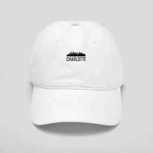 Skyline of Charlotte NC Baseball Cap