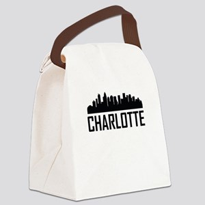 Skyline of Charlotte NC Canvas Lunch Bag
