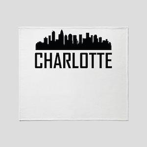 Skyline of Charlotte NC Throw Blanket