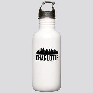 Skyline of Charlotte NC Water Bottle