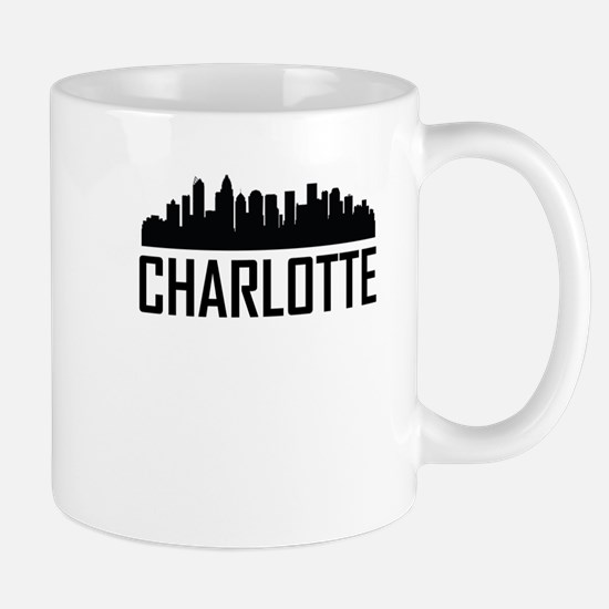 Skyline of Charlotte NC Mugs