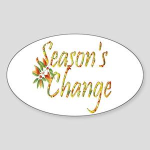 Season's Change Oval Sticker
