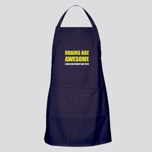 Brains Are Awesome Apron (dark)