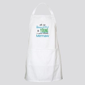Beautiful and Young Memaw BBQ Apron