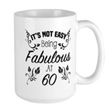 60 birthday women Large Mugs (15 oz)