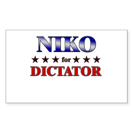 NIKO for dictator Rectangle Sticker