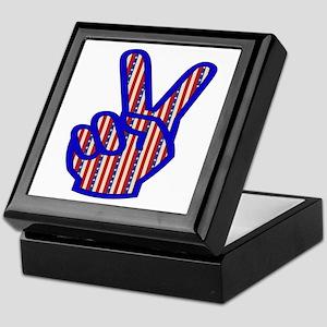 Patriotic Peace Sign Keepsake Box