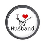 I Heart My Husband Wall Clock