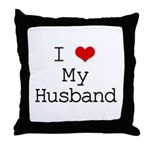I Heart My Husband Throw Pillow