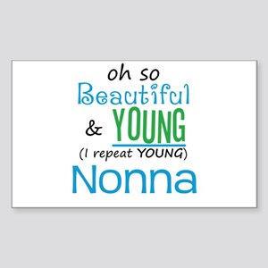 Beautiful and Young Nonna Rectangle Sticker