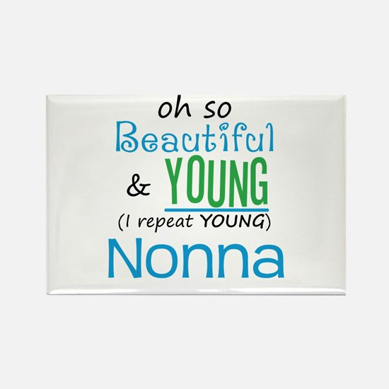 Beautiful and Young Nonna Rectangle Magnet